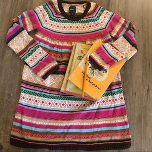 Gap kids multi colored sweater dress